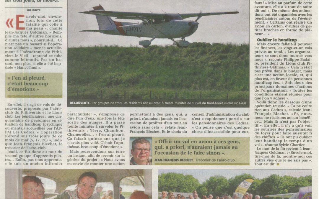 Articles dans la Presse locale sur l'opération Hanvol'moi