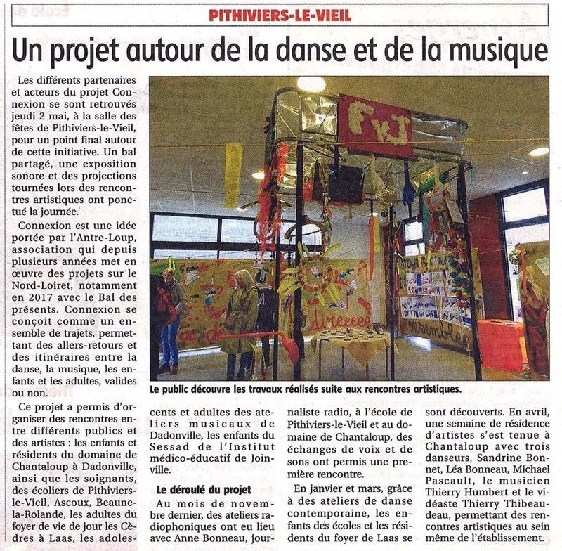 Projet CONNEXION(S) – Article extrait du «Courrier du Loiret»
