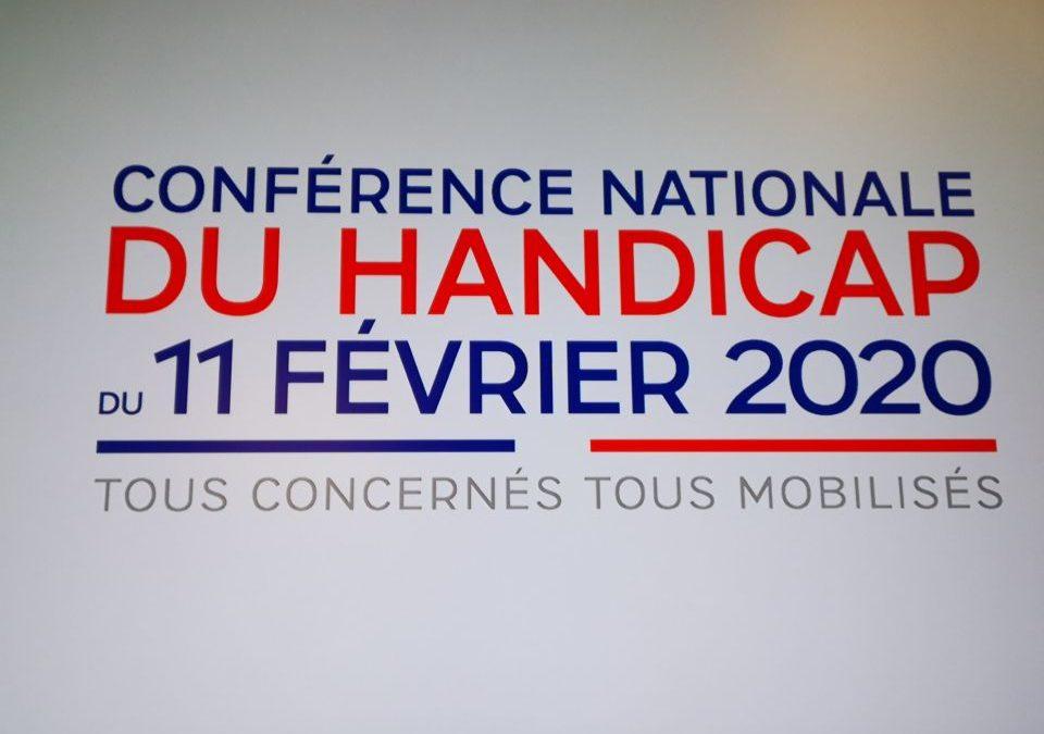 11 février 2020, la Conférence Nationale du Handicap à l'Élysée